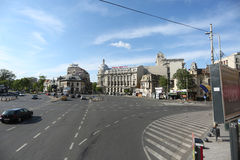 Magheru boulevard in Bucharest Royalty Free Stock Photography