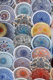 Maghreb ceramics on display in the Iseo Country Fair - Lombardy. Maghreb ceramics on display and on sale in the Iseo Country Fair in the province of Brescia Stock Photo