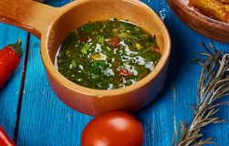 Maghreb Chermoula. Maghreb cuisine . Traditional Chermoula - marinade and relish Stock Image