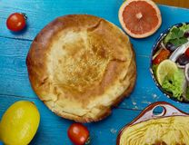 Maghreb Moroccan bread. Maghreb cuisine . Traditional Moroccan bread , Top view Royalty Free Stock Image