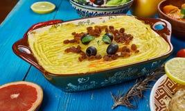 Maghreb Torshi. Maghreb cuisine .Torshi- Libyan Mashed Potatoes , Squash Stock Image