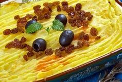 Maghreb Torshi. Maghreb cuisine .Torshi- Libyan Mashed Potatoes , Squash Royalty Free Stock Image