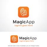 Magi App Logo Template Design Vector, emblem, designbegrepp, idérikt symbol, symbol Arkivbild