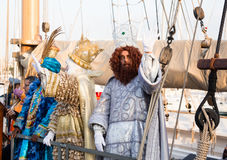 Magi arriving in port Royalty Free Stock Photo