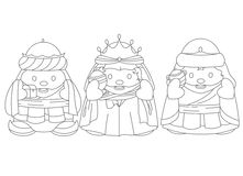 Magi black and white Royalty Free Stock Image