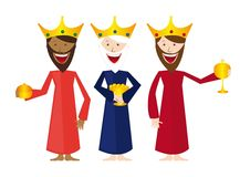 Magi cartoon. Isolated over white background. vector Stock Photography