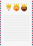 Magi Christmas letter illustration  Royalty Free Stock Photo