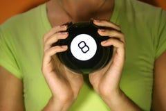 magi för 8 boll arkivbild