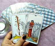 Magi för spådom för tarokkort ockult royaltyfri fotografi