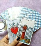 Magi för spådom för tarokkort ockult arkivbilder
