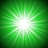 Magi grön light-01 stock illustrationer
