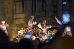 Magi Kings celebration in Spain Royalty Free Stock Images