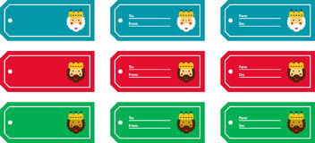 Magi labels. Labels with a drawn of Magi Stock Photo