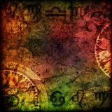 Magi undertecknar astrologibakgrund Royaltyfria Foton