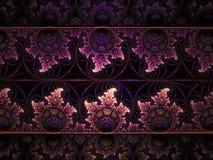 Magia creativa moderna de la decoración de la idea del fondo del diseño del fractal del sueño colorido único abstracto del modelo imagen de archivo