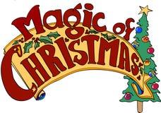 Magia de la bandera de la Navidad Imagenes de archivo