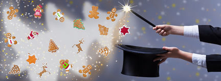 Magia de la Navidad - para el espacio de la copia Fotografía de archivo