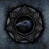Magia del corvo immagini stock
