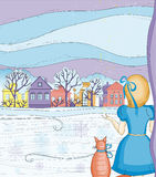 Magia del invierno stock de ilustración