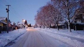Magia del invierno del pueblo Foto de archivo