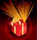 Magia del rectángulo del regalo de Navidad Fotos de archivo libres de regalías