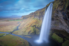 Magia della cascata di Seljalandsfoss Fotografia Stock
