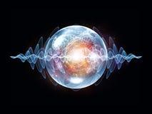 Magia della particella di Wave Fotografie Stock