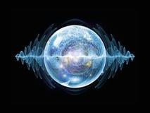 Magia della particella di Wave illustrazione di stock