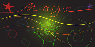 Magia di energia Immagine Stock
