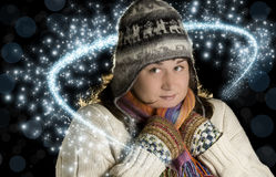 Magia di inverno Fotografie Stock
