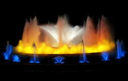 magia fontann obraz stock