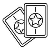 Magia grępluje ikonę, konturu styl ilustracji