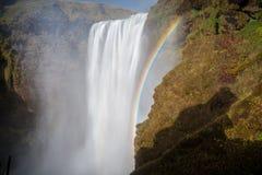 Magia islandese della cascata Fotografia Stock