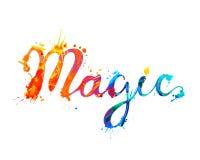 magia Lettere della pittura della spruzzata di vettore illustrazione di stock