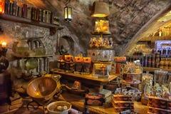 Magia negra interior do café Imagem de Stock Royalty Free