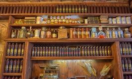 Magia negra interior do café Fotografia de Stock