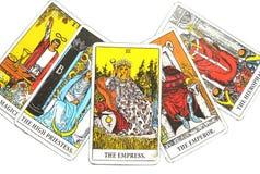 Magia occulta di divinazione delle carte di tarocchi illustrazione di stock