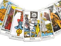 Magia occulta di divinazione delle carte di tarocchi illustrazione vettoriale