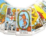 Magia occulta di divinazione delle carte di tarocchi royalty illustrazione gratis