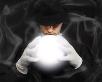 Magia, występ, cyrk, przedstawienia pojęcie miękkie ogniska, zdjęcia stock