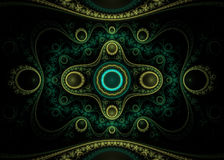 Magic. Fractal illustration. Suitable for background, texture etc Stock Photos