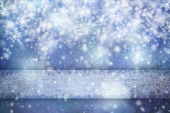 Magic abstract blue snowflake copy space background Stock Photography