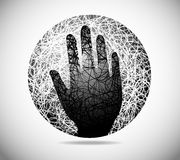 Magic abstract sphere Royalty Free Stock Image