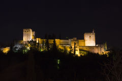 Magic Alhambra by night. Stock Photo
