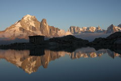 Magic alpine landscape Stock Photography