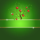 Magic apple tree card Stock Photo