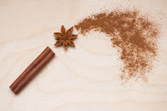 Magic aromatic spices for healthy and flavoured food. Royalty Free Stock Photo