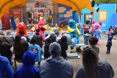 The Magic of Art show at Sesame Place. In Langhorne, Pennsylvania Stock Photos