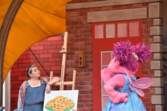 The Magic of Art show at Sesame Place. In Langhorne, Pennsylvania Stock Image