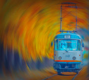 The magic of autumn in Bucharest on tram line 25 royalty free stock photos